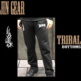 JIN GEAR Tribal Model スウェットパンツ 黒 [jg-pants-tribal-bk]